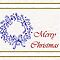 Merry Christmas with wreath holiday card by Cheryl Hall