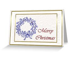 Merry Christmas with wreath holiday card Greeting Card