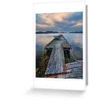 Saturna Island Dock Greeting Card