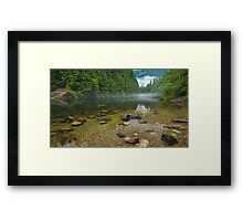 Alouette Lake Clearity Framed Print