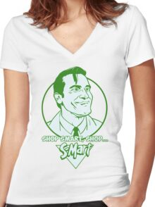 Ash from Evil Dead green Women's Fitted V-Neck T-Shirt