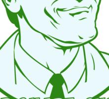 Ash from Evil Dead green Sticker