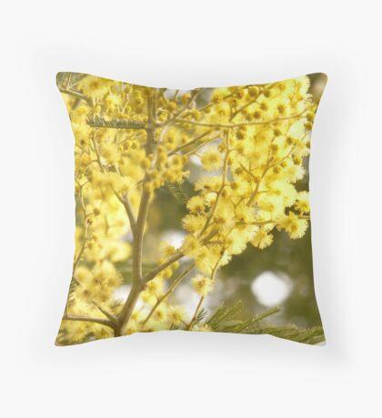wattle blossom Throw Pillow