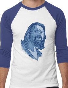 The Dude blue Men's Baseball ¾ T-Shirt