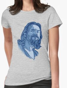 The Dude blue Womens Fitted T-Shirt