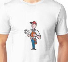 Builder Construction Engineer Worker Cartoon  Unisex T-Shirt