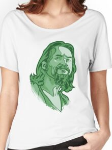 The Dude green Women's Relaxed Fit T-Shirt