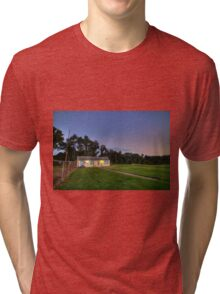 Sunset Monroeville Airport P.A Dawn of the Dead Location IMG 0919 Tri-blend T-Shirt