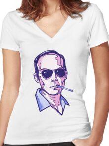 Hunter S. Thompson violet Women's Fitted V-Neck T-Shirt
