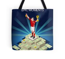 Football Champion Epic Moments Tote Bag