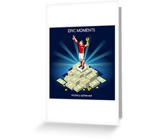 Football Champion Epic Moments Greeting Card