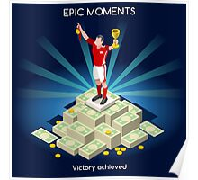 Football Champion Epic Moments Poster