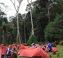 Campsite on Kokoda Track by BenClarkImagery