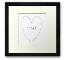 I <3 books Framed Print
