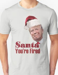 Funny Christmas Santa You're Fired Donald Trump  T-Shirt