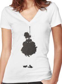Cendrispleen Women's Fitted V-Neck T-Shirt