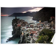 Evening over Vernazza Poster