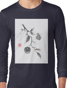 Fruits of the fall sumi-e painting Long Sleeve T-Shirt