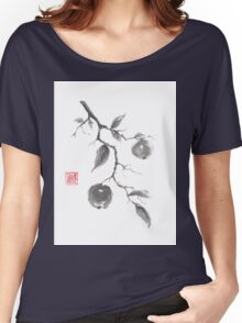 Fruits of the fall sumi-e painting Women's Relaxed Fit T-Shirt