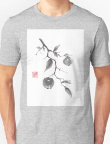 Fruits of the fall sumi-e painting T-Shirt