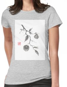 Fruits of the fall sumi-e painting Womens Fitted T-Shirt