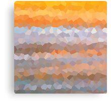 Bright Orange Gold Yellow Geometric Art Pattern Beach Abstract Canvas Print