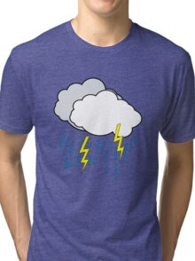 Cartoon Clouds Tri-blend T-Shirt