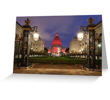 San Francisco Night Scene Greeting Card