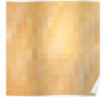 Shiny Gold Metallic Metal Minimalist Geometric Square Patterned Abstract Art Poster