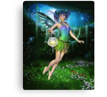 Faerie Glimmers in the Night Canvas Print