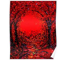 The Arches in Red by John E Metcalfe Poster