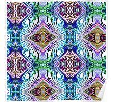 Neon Pinstripes 1 B Poster