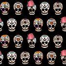Sugar Skull 5 Design Repeat by Amy-Elyse Neer