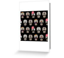 Sugar Skull 5 Design Repeat Greeting Card