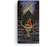 Shiva Parvati. Night in Himalayas Canvas Print