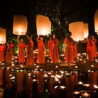 Monks and Lanterns by Daniel Nahabedian