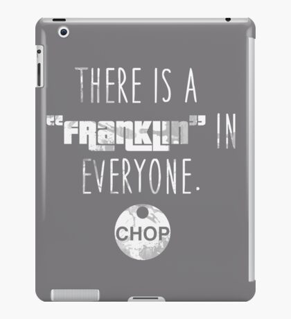 Franklin in Everyone (White) iPad Case/Skin