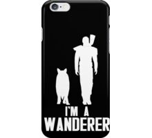 The Wanderer (White) iPhone Case/Skin