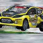 Tanner Foust RallyCross Limited Edition Print A2 by iconic-arts