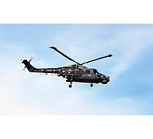 Black cat Lynx helicopter at the Southport air show Photographic Print