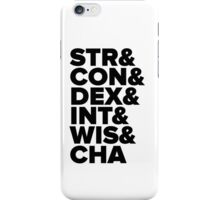Characteristics iPhone Case/Skin