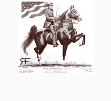 Red Frontier Wing Commander American Saddlebred Flag Drawing Unisex T-Shirt