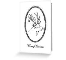Christmas Card - Stag Greeting Card