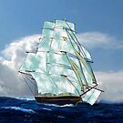 A Cloud of Sails on a Vintage Ship iPad case by Dennis Melling