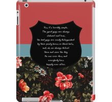 Buffy It's terribly simple iPad Case/Skin