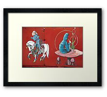 Knight And Hookah Framed Print