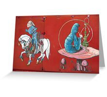 Knight And Hookah Greeting Card