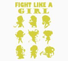 League of Legends Fight Like A Girl Yellow by DEADCuteUK