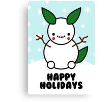 Snowman Pikachu Pokemon Card Canvas Print