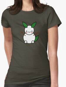 Snowman Pikachu Pokemon Card Womens Fitted T-Shirt
